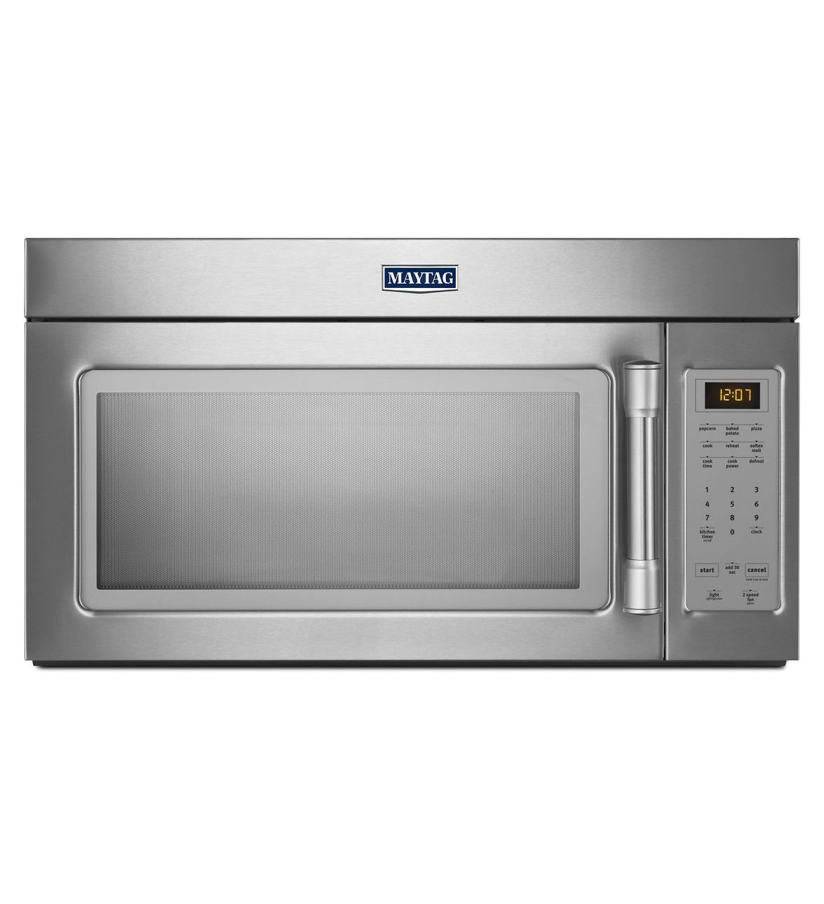 Beau COMPACT OVER THE RANGE MICROWAVE WITH STAINLESS STEEL HANDLE. MMV1174DS